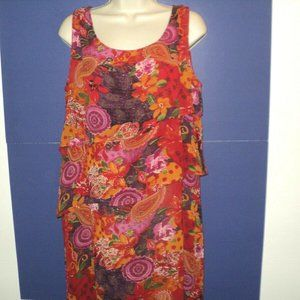 Sacred Threads Dress Sz M/L Floral Paisley Layers